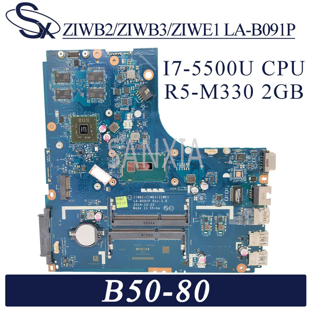 KEFU LA-B091P Laptop motherboard for <font><b>Lenovo</b></font> <font><b>B50</b></font>-<font><b>80</b></font> original mainboard I7-5500U R5-M330 2GB image
