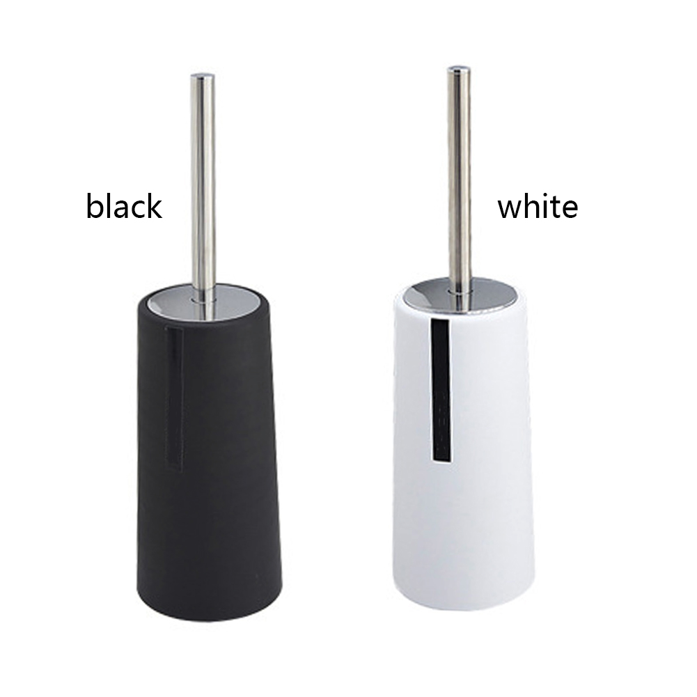 Stainless Steel Portable Lavatory Toilet Brush With Holder For Toilets Durable Plastic Bathroom Accessories Set