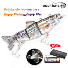 Isca de pesca Swimbait Crankbait Wobblers Isca Para Pesca 4-Segement Elétrica Recarregável USB LED Piscando a luz de Pesca