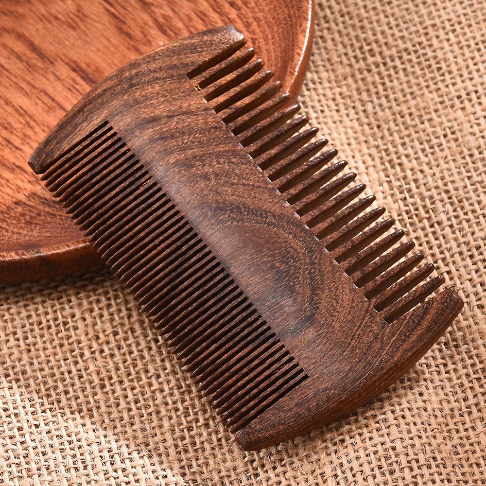 New Green Sandalwood Pocket Beard Hair Combs 2 Size Handmade Natural Wood Comb Anti-static Combs Hair Brush Hair Styling Tool