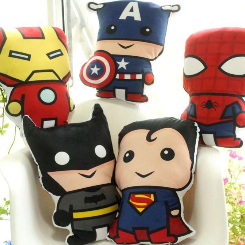NEW The Avengers Plush Deadpool Batman Iron Man Captain America Spiderman Plush Pillow Christmas Gift Toys