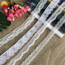 !2.1-3cm S1097 white multicolored cotton lace lace DIY clothing edge wrap cotton ribbon tape cotton material diy cotton nylon lace adhesive tape white