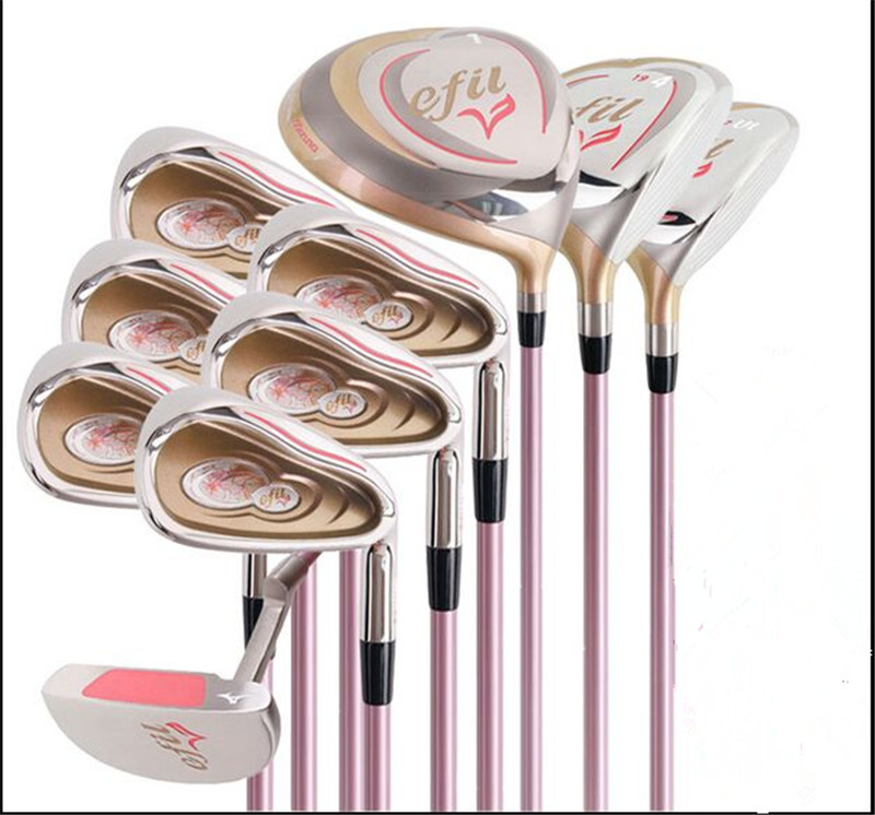 Women's golf clubs set efil  golf clubs set Graphite shaft 10pcs/set golf driver fairway wood golf irons golf putters no bag 1