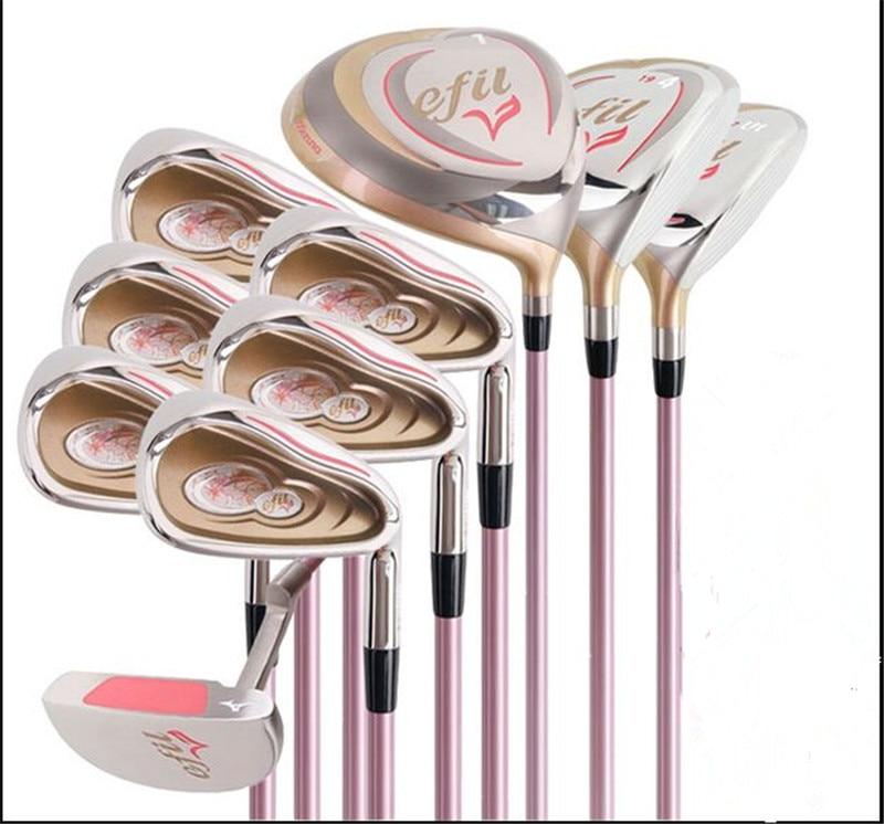 Women's golf clubs set efil  golf clubs set Graphite shaft 10pcs/set golf driver fairway wood golf irons golf putters no bag 1