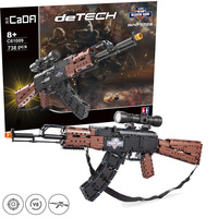 CADA Military 738pcs SWAT AK47 sets building blocks gun boys assemble PUBG toys compatible with legoinglys guns bricks weapons