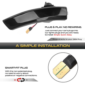 Image 2 - 2Pcs Dynamic LED Turn Signal Lights Rearview Mirror Indicator Blinker Repeater For Ford Focus 2 Mk2 3 Mk3 Mondeo 4 Mk4