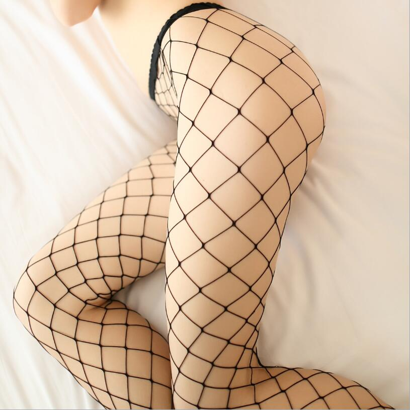 New Summer Sexy Women Fishnet Tights Seamless Mesh Pantyhose Ladies Nylon Stockings Tights Footless Fish Net Tights Collant
