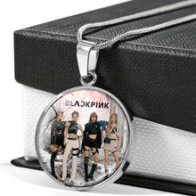 Kpop topo menina grupo foto colar 2021 nova rosa lisa jisoo jennie prata cor colar moda jóias fãs coleção BP-814