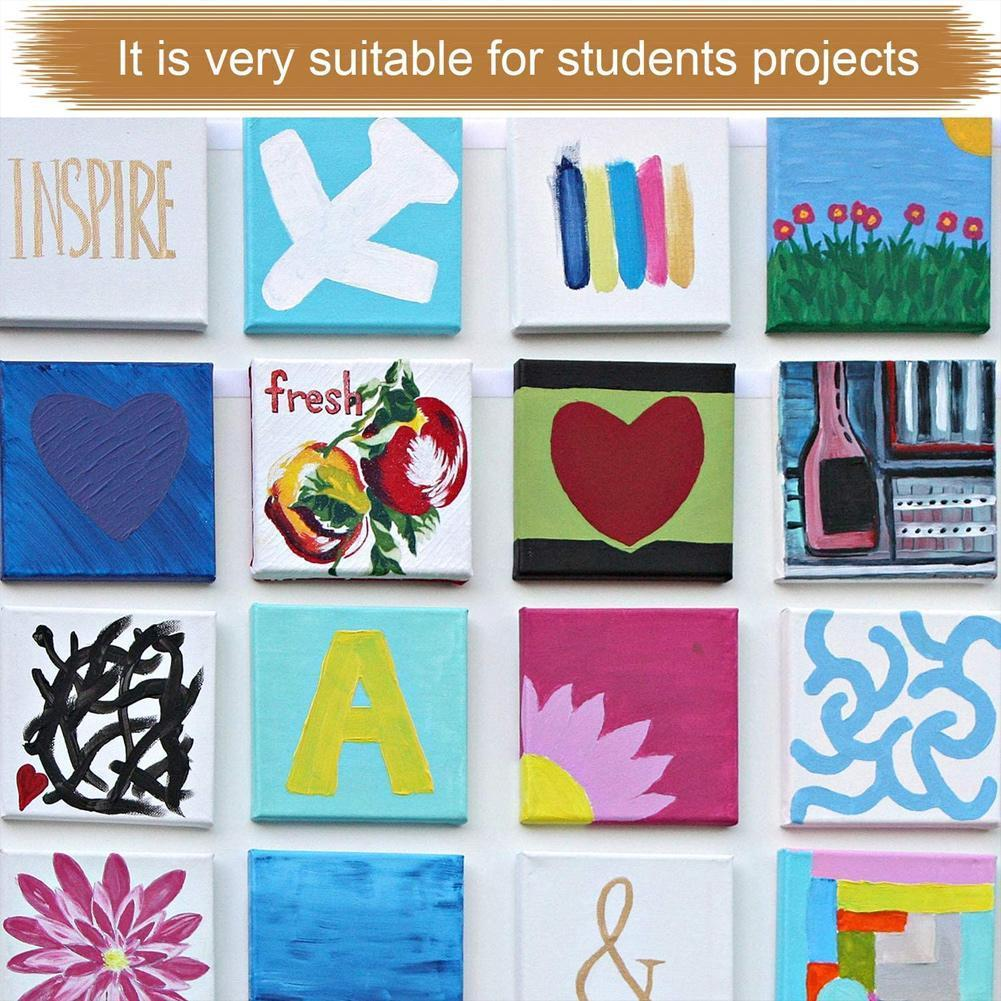 Canvas Art Board Painting Frame Square Artist Canvas For Canvas For Primed Painting Frame Oil Board Oil Acrylic Wooden Pain N5Q8