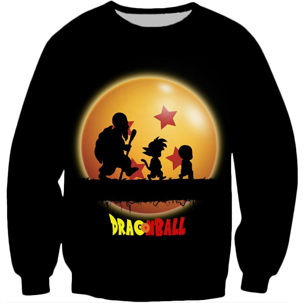 2020 New Fashion Sweatshirt Anime Dragon Ball Z Kid Goku And Master Roshi 3d Print Men Women Crewneck Pullover Casual Hoodies