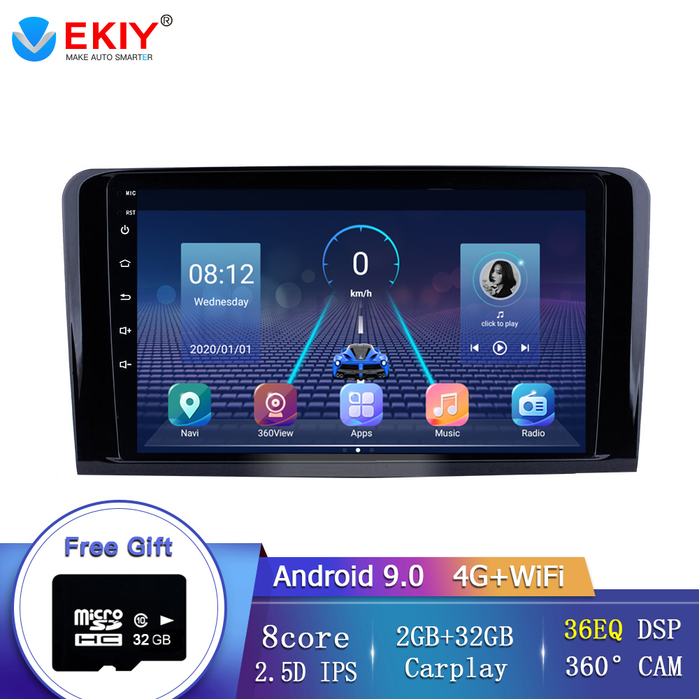 EKIY 8 Core Car Android 9.0 AutoRadio Multimedia Player For <font><b>Mercedes</b></font> Benz <font><b>ML</b></font> <font><b>W164</b></font> ML300 GL X164 GL320 <font><b>350</b></font> 420 450 500 R W251280 image