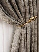 De Lujo Luz de franela gris apagón cortinas dormitorio cortinas de habitación casa de lujo decoración Color cortinas bronceado de terciopelo