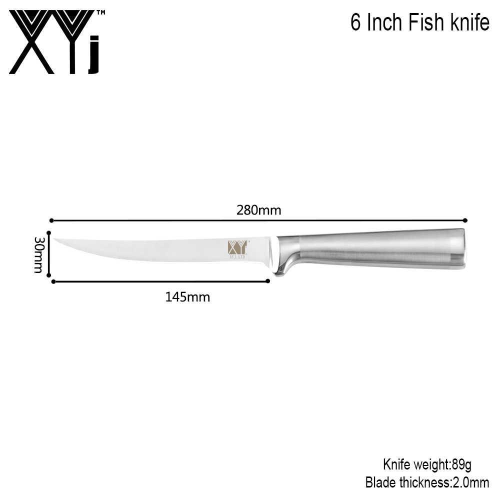 XYj 6 Cal profesjonalny nóż filetowy ostrze ze stali nierdzewnej i uchwyt nóż filetowy bardzo ostry ryby odkostnianie noże narzędzia