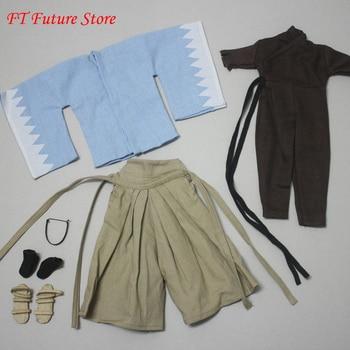 Ropa de soldado masculino 1/6, ropa de samurái Miyamoto, traje de guerrero antiguo de Samurai japonés, modelo de ropa para cuerpo de 12
