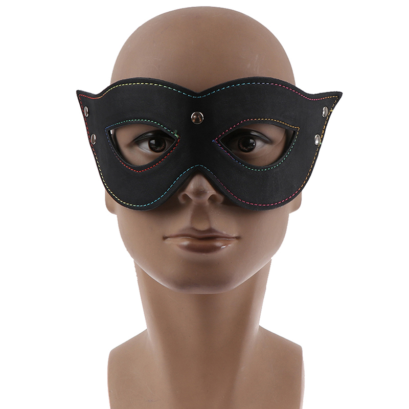 <font><b>Sexy</b></font> Eye Mask Erotic Toys Leather Blindfold <font><b>Sexy</b></font> Eye Mask BDSM Flirt Sex Toy Sleeping Masquerade <font><b>Cat</b></font> Eye Party Club Cosplay image