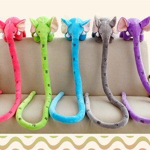 100cm Long Nose Elephant Random Color Animal Dolls Plush Toys Soft PP Cotton Funny Birthyday Gift for Children Cushion Toy