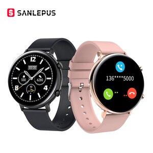 Смарт-часы SANLEPUS 2020, Bluetooth звонки, мужские и женские водонепроницаемые Смарт-часы, ЭКГ PPG фитнес-браслет, ремешок для Android Apple Xiaomi