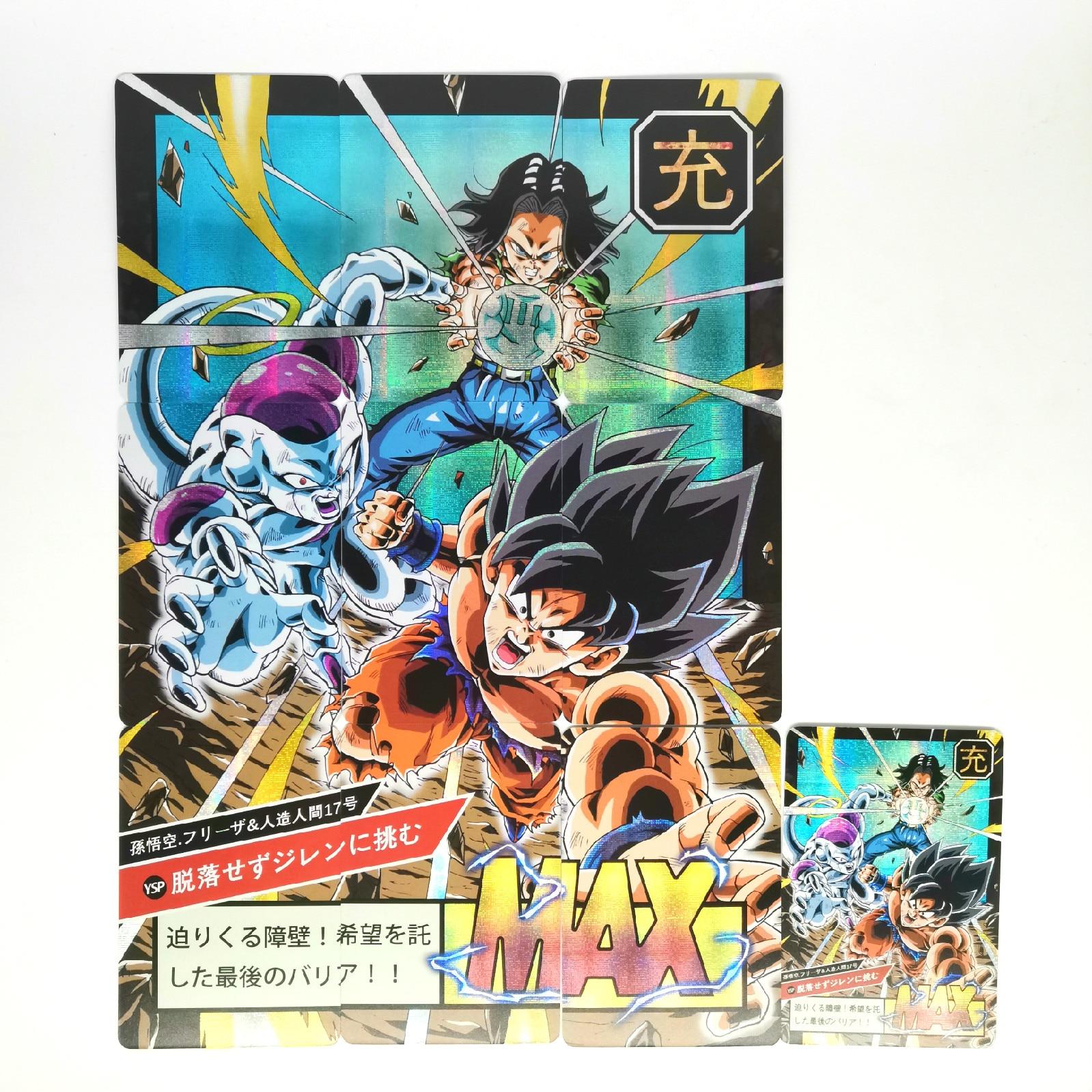 10pcs Super Dragon Ball Z Heroes Battle Card Ultra Instinct Goku Vegeta Game Collection Cards