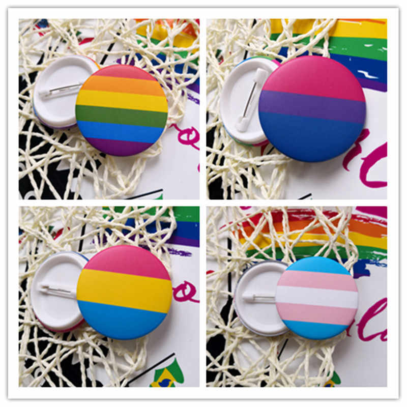 New Transgender Pride Rainbow Gay Intersex Asexual Pride lapel pins Love is Bisexual Pansexual pins panromantic tin badge