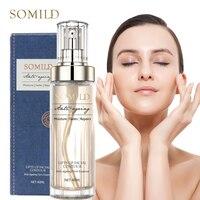 SOMILD Luxury Korean Cosmetics Snowy White Face Serum Whitening Women Firming Emulsion Plant Essence Skin Care Wrinkle Cream 1