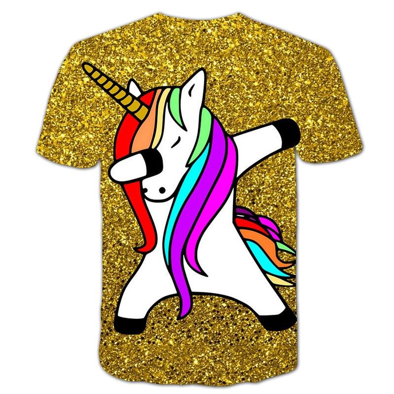 Ha84ba0c7abd74c45a212fd85c514d07au Baby Girls T-shirt 4 5 6 7 8 9 10 11 12 13 14 Years Unicorn Kids T Shirt Children Clothes Summer Unicorn T shirts Girl s Tee