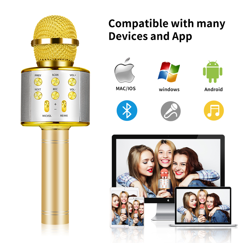 Wireless Karaoke and record Microphone   5