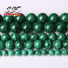AAAAA Natürliche Malachit Runde Lose Perlen Natürliche Echte Stein Perlen 4 6 8 10mm DIY Armband Halskette für schmuck, der 15