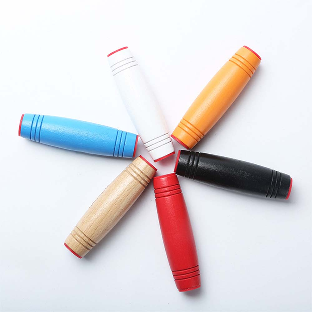 1Pcs Decompression Toy Wood Stick Creative Large Boring Decompression Vent Artifact Japan Does Not Flip The Stick