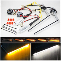 Dual Color White / Amber Yellow LED Sequential Flowing Winker Valve Front Turn Singal DRL For TOYOTA Toyota C HR CHR IZOA