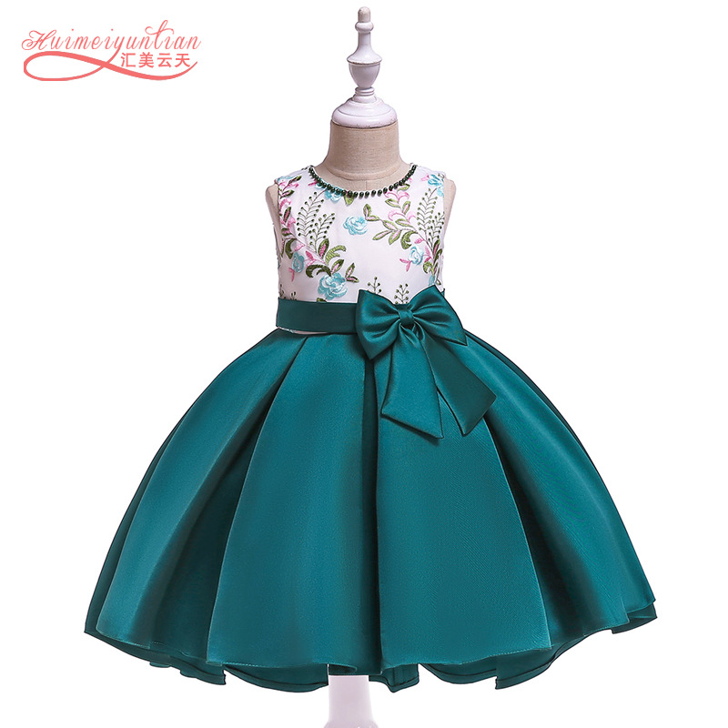 AliExpress Children Shirt 2019 New Style Beads Embroidered Forging Cloth Swallow Tail Princess Skirt Birthday Party Pleated Dres