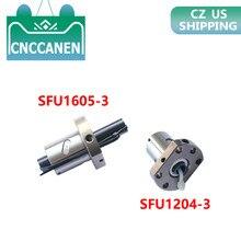 عالية القوة بالولب الجوز SFU1204-3 12 مللي متر SFU1605-3 16 مللي متر SFU2005-3 الكرة المسمار الكربون الصلب مقعد ل SFU1204 1605 2005 بالولب