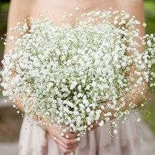 1-5 pçs branco babys respiração flores artificiais gypsophila flores de plástico para casa decorativo diy casamento festa decoração falso flor