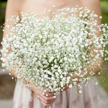 1-5Pcs White Babys Breath Artificial Flowers Gypsophila Plastic Flowers For Home Decorative DIY Wed Party Decoration Fake Flower