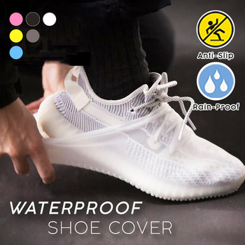1 Pair Reusable Silicone Shoe Cover S/M/L Waterproof Rain Shoes Covers Outdoor Camping Slip-resistant Rubber Rain Boot Overshoes 1 pair reusable silicone shoe cover waterproof rain shoes covers outdoor camping slip resistant rubber rain boot overshoes new