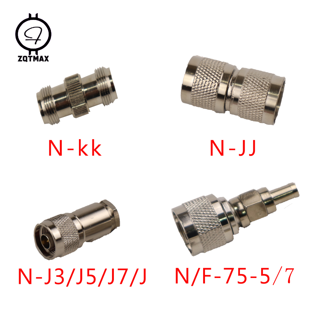 ZQTMAX 10PCS] Variety Models N-KK N-JJ N-J5/J7 N-75-5/7 N-Type Male Female Connector Coaxial Connectors Convert Adapter