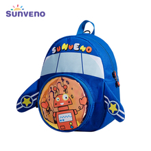 Sunveno 3D Cartoon Children Backpacks Girl Boys Anti-lost Backpack Toddler Kids School Bag Kindergarten Glowing Bag Baby Bags sunveno оранжевый