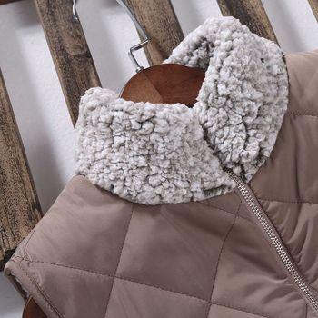 Women Sleeveless Fleece Jacket Winter Vest Female Slim Reversible Vest Windproof Warm Waistcoat F42F