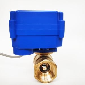 """Image 3 - 3/4 """"صمام تشغيل كهربائي نحاسي ، DC12V صمام موروتيزد 3 سلك (CR02) التحكم ، DN20 صمام كهربائي لفائف مروحة"""