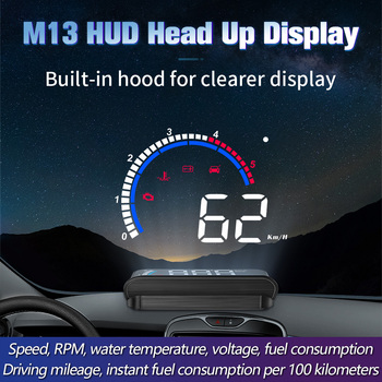 OBD HUD M13 NEW car head-up display Auto Electronics Hud windshield Projector Speed water temperature Overspeed alarm - discount item  62% OFF Car Electronics
