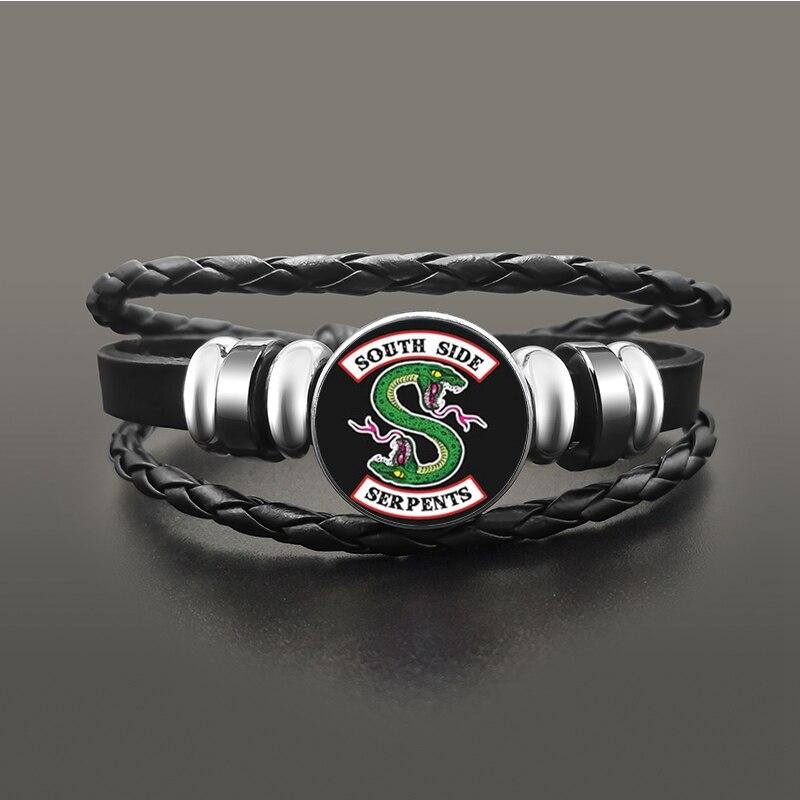TV-Riverdale-South-Side-Serpents-Black-Leather-Bracelet-Jeweley-Glass-Dome-Button-Snaps-Bracelets-Punk-Wristband (1)