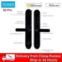 Xiaomi Aqara – serrure de porte intelligente S2 Pro, mot de passe, déverrouillage par empreinte digitale, application de déverrouillage, moniteur de confidentialité en temps réel