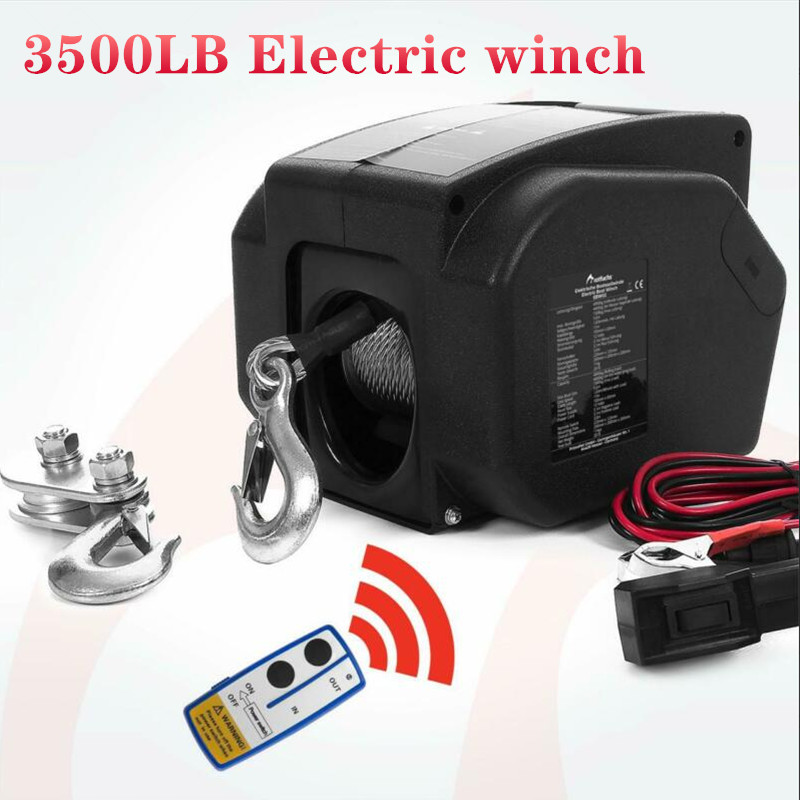 12V 3500lbs Wireless Electric Winch For Marine Use
