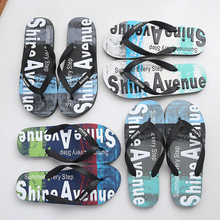 gienig 2018 summer men slippers a simple one with a thick bottomed leisure cool trend student anti skid wear resistant home Fashion Summer New Flip Flops Men Outdoor Anti-slip Beach Shoes Graffiti Breathable Wear-resistant Slippers Men Bath Slippers