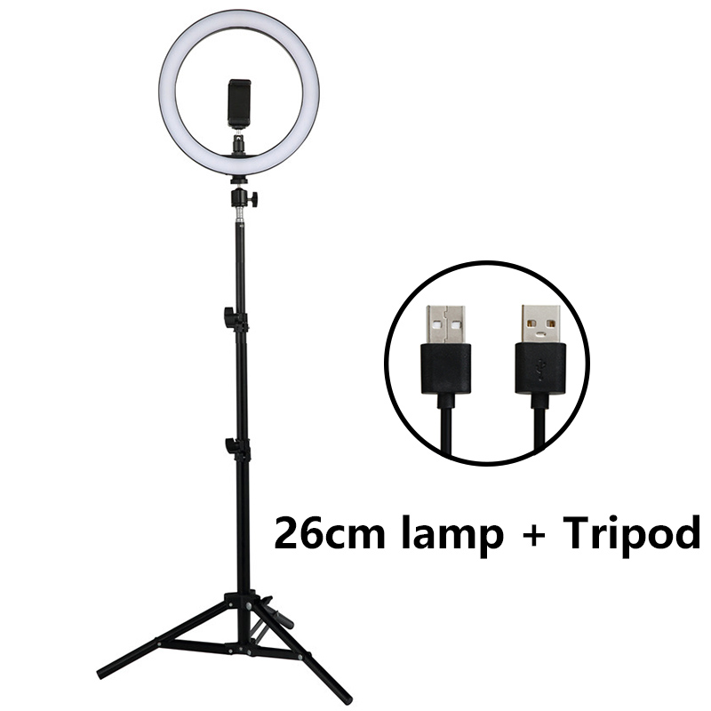 Led Night Light 12W 5500K Photo Studio Photography Lights Photo Fill Ring Lamp With Tripod For Iphone Yutube Video Makeup