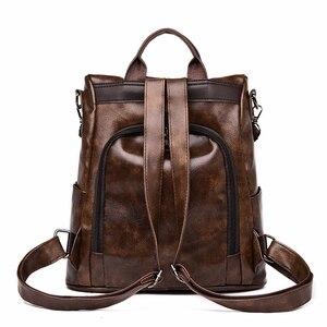 Image 3 - 2019 kadın deri sırt çantaları tiki tarzı kadın Mochila kese Dos kadınlar seyahat sırt çantası bağbozumu geri paketi kadın sırt çantası yeni