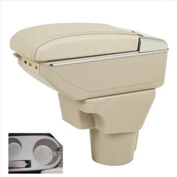 for Kia Rio II armrest box Kia Rio 2 central Store content box cup holder 2006-2011 Automotive retrofit accessories