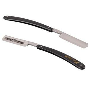 Золотая бритва 66, Классическая стальная бритва с прямым краем для парикмахерской, бритва для бритья, винтажная ручная бритва, лучший подарок для мужчин и Пап