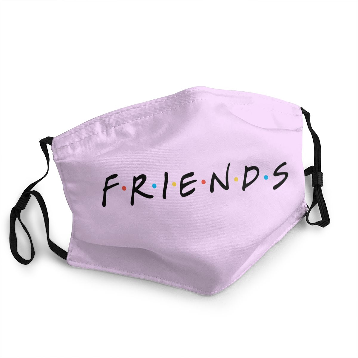 Friends Logo Men Women Non-Disposable Face Mask Anti Bacterial Dust Mask Protection Mask Respirator Mouth Muffle