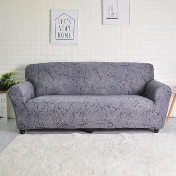 Elastyczny pokrowiec na sofę do salonu narzuta na sofę w kształcie litery L pokrowiec na fotel pojedynczy dwa trzy siedzenia tanie i dobre opinie FORCHEER 145-185cm sofa cover Printed Europe Geometric Podwójne siedzenia kanapa Polyester Cotton Sofa Slipcover 600-1200g