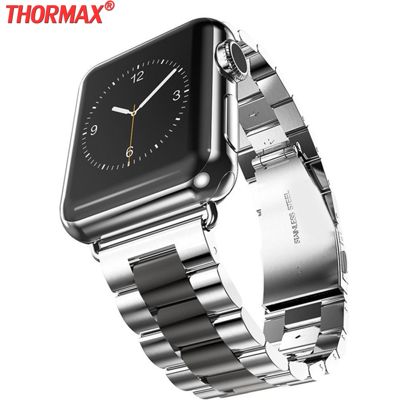 Stainless Steel strap For <font><b>Apple</b></font> <font><b>Watch</b></font> band <font><b>42mm</b></font> 44mm Bracelet <font><b>pulseira</b></font> band for iwatch series 5 4 3 <font><b>2</b></font> black gold pink 38mm 40mm image